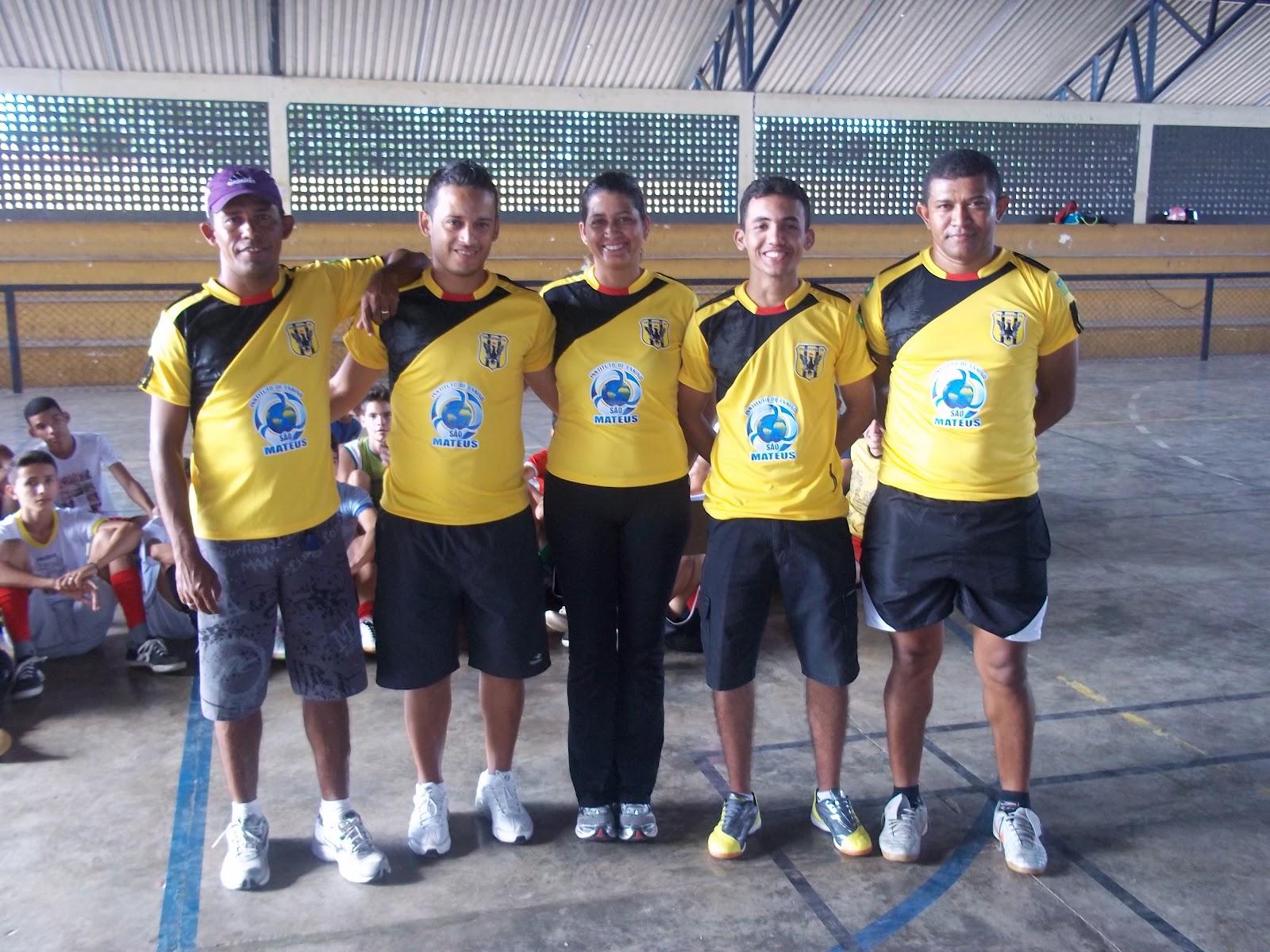 Comissão Técnica do Alianza São Mateus  Professor Ivan, Clemilton, Gisélia,  Railson e Leno. 26f91b2e5e