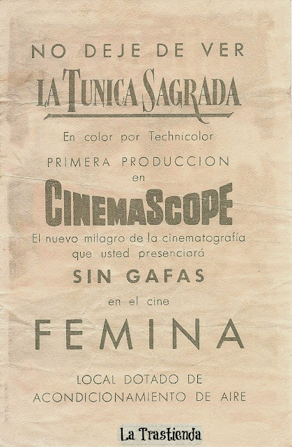 Programa de Cine - La Túnica Sagrada - Richard Burton - Jean Simmons - Victor Mature