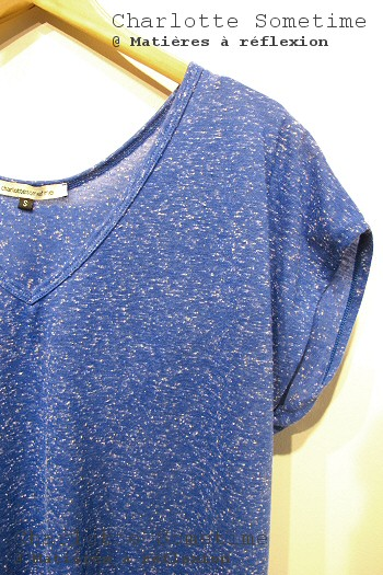 Tee-shirt bleu Charlotte Sometime