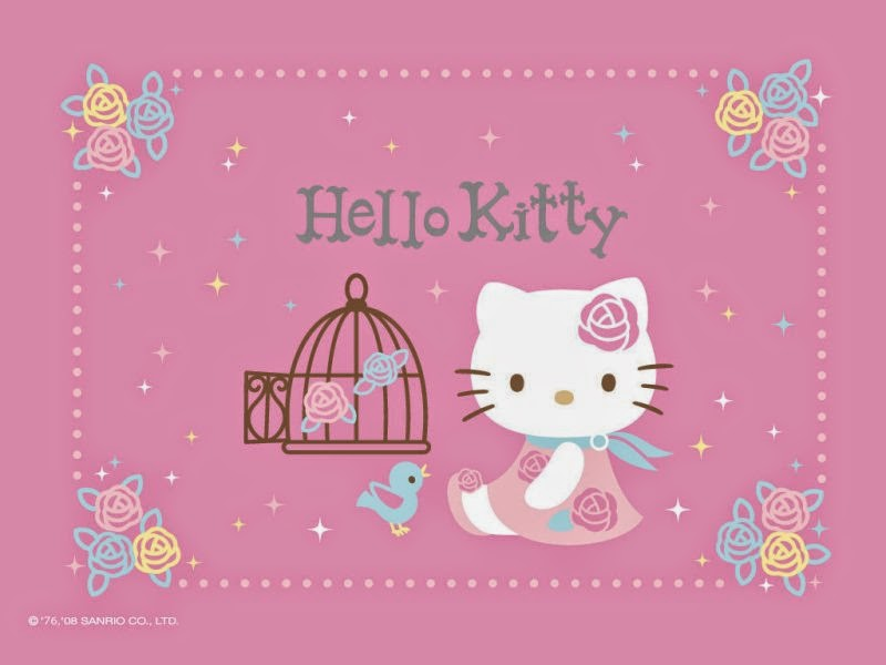 Wallpaper hello kitty pink gambar gratis