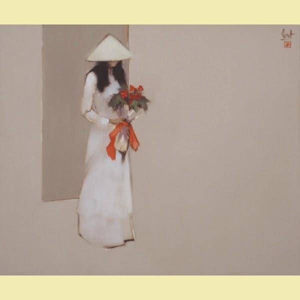 Flores Frescas - Thanh Binh e Suas Pinturas Elegantes - Vietnamita