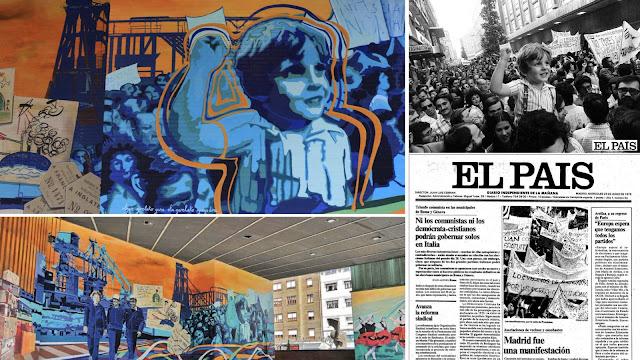 Mural y fotografía de El País publicada el 23 de junio de 1976