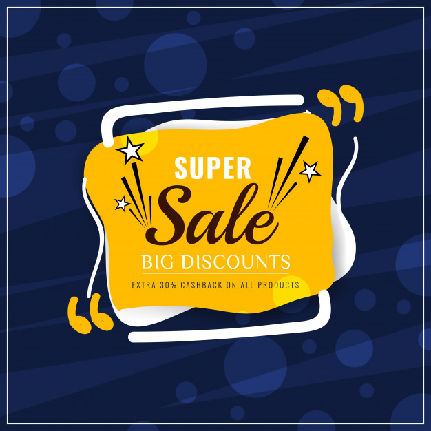 Abstract colorful super sale modern background Free Vector