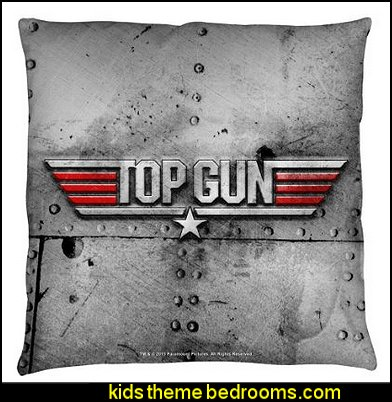 Top Gun 1986 Romantic Military Action Drama Movie Logo Throw Pillow