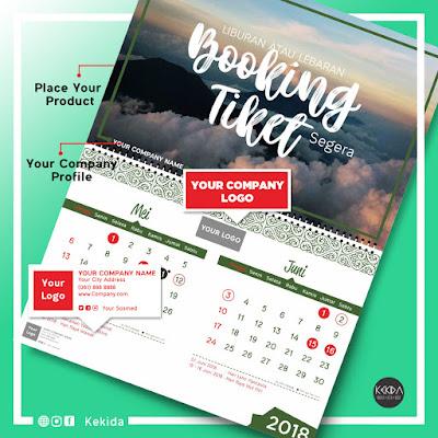 Contoh Gambar Desain Kalender 2018 Untuk Perusahaan