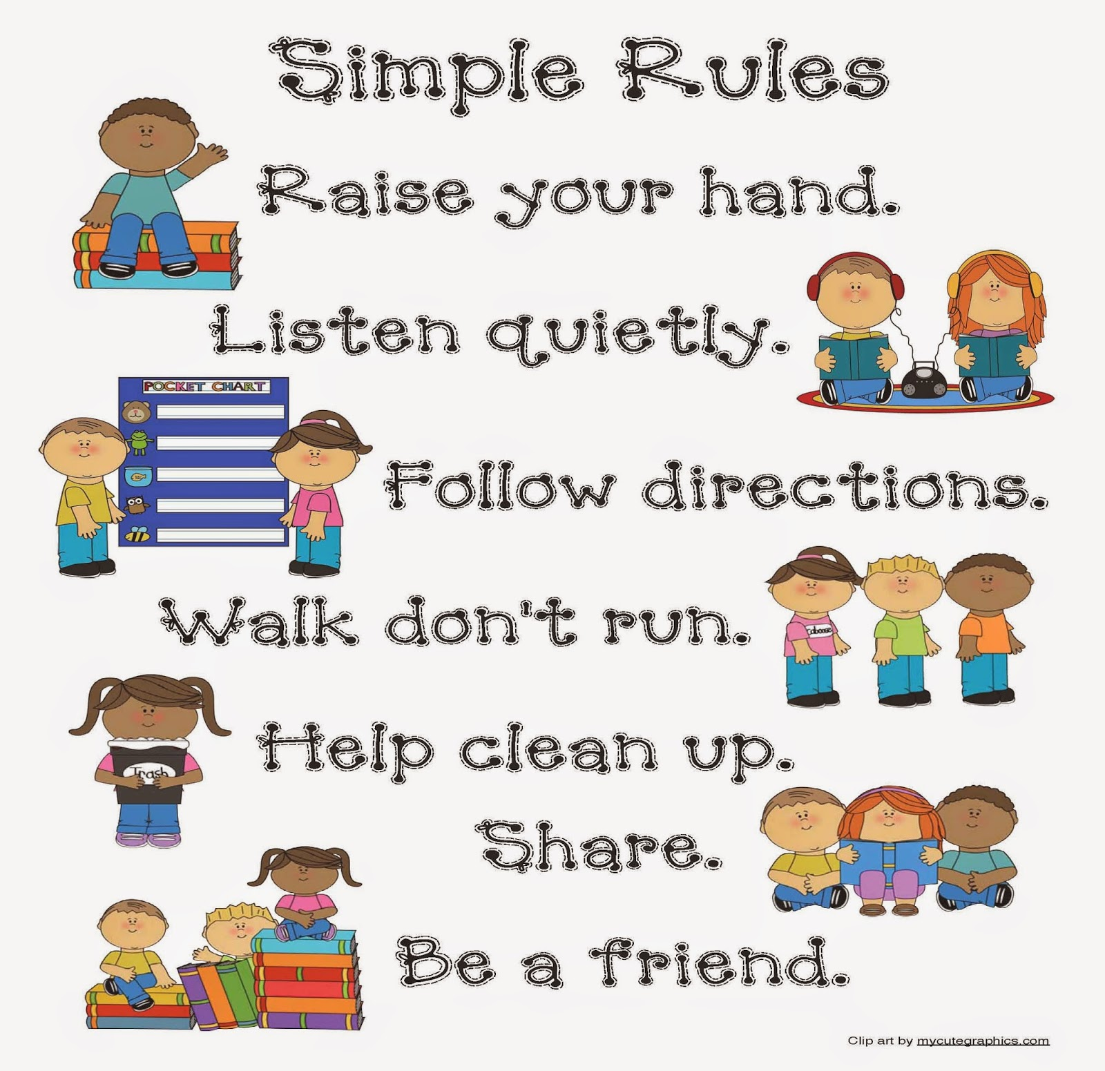 Classroom Freebies Simple Rules Poster