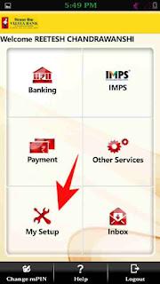 Mobile banking mpin or login password change kaise kare 5