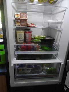 full fridge of healthy food