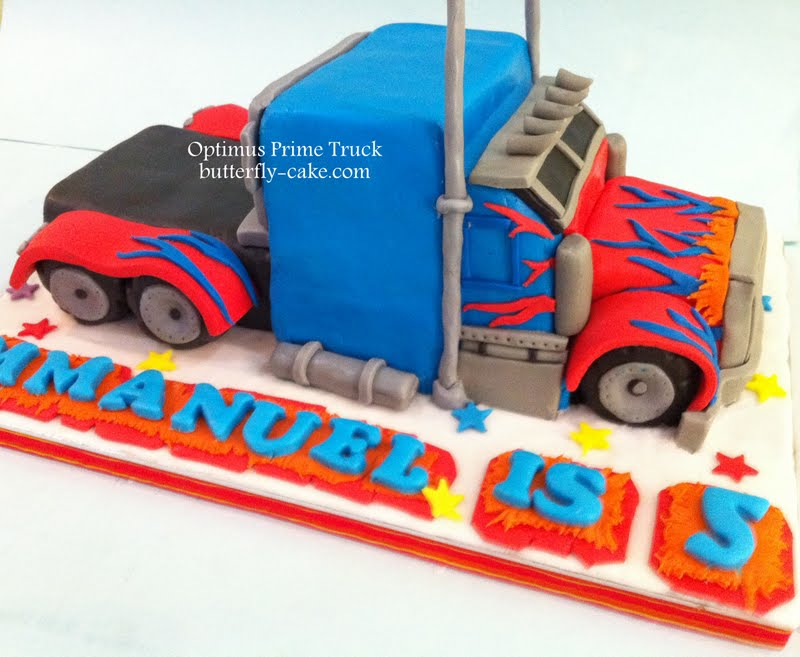 Butterfly Cake Optimus Prime Truck Cake