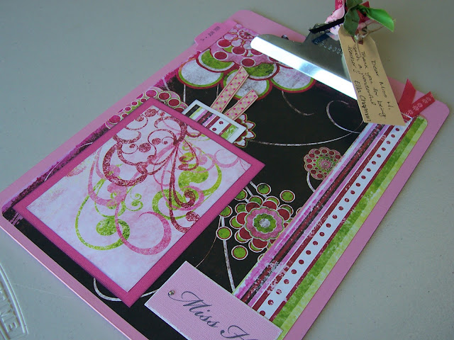 Teacher Gift Idea Altered Clipboard & Bookmark