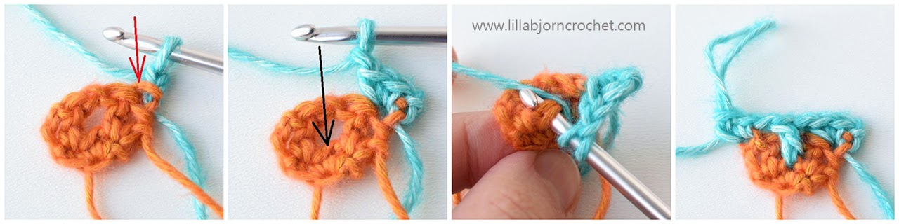 Brioche Crochet: how to make triangle shape - step-by-step tutorial by www.lillabjorncrochet.com