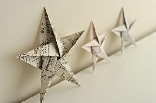 steluta origami craciun hartie decoratiune brad diy-1