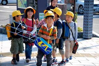 School Children Uji Japan