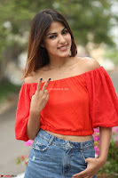 Rhea Chakraborty in Red Crop Top and Denim Shorts Spicy Pics ~  Exclusive 226.JPG