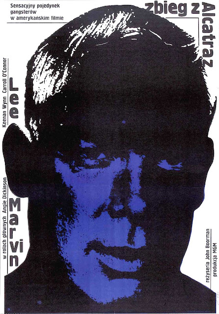 a 1967 Polish film poster of Lee Marvin, Alcatraz