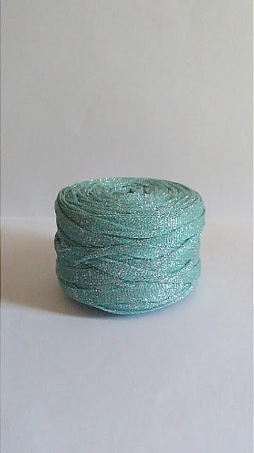 trapillo textil con lúrex para trabajar a crochet