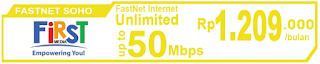 Paket Internet First Media FasNet Soho (Promo)