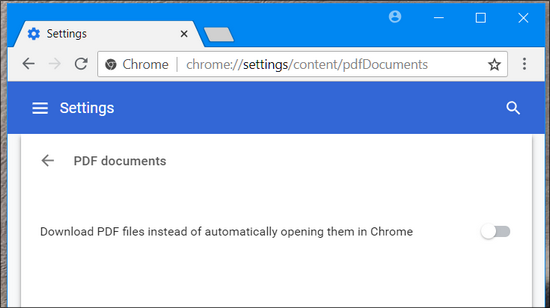 Disable PDF Viewer in  Google Chrome