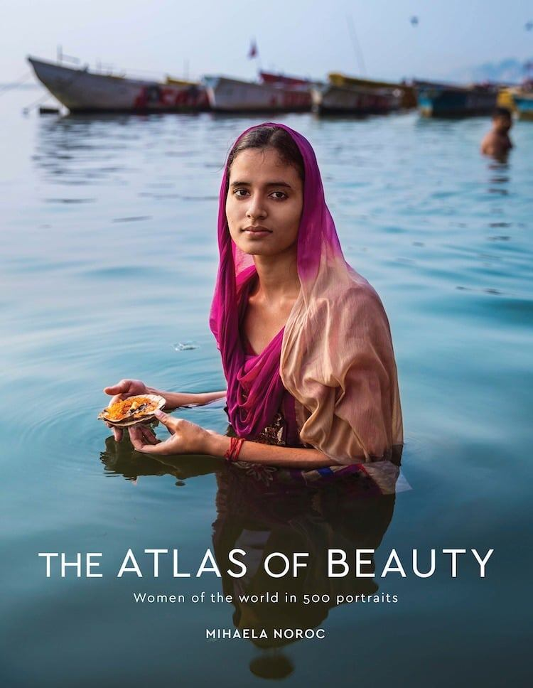 Romanian photographer Mihaela Noroc presented a photo book dedicated to women's beauty. The girl traveled the world for four years and took portraits of local women, emphasizing the diversity of cultures. During this time, she made more than 500 photos in 50 countries of the world, which were included in  The Atlas of Beauty.