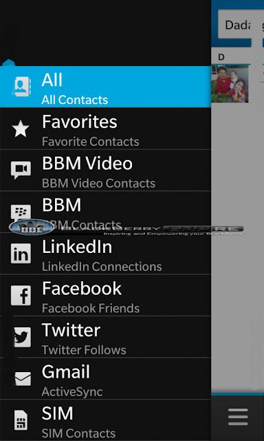 Anteriormente les habíamos mostrado una vista acerca de los perfiles vinculados y los contactos en BlackBerry 10, Pero los amigos de BlackBerryEmpire han compartido algo más acerca de las funciones del dispositivo, Está vez se trata de una vista más cercana de la Libreta de contactos en BlackBerry 10. Su interfaz de usuario es muy completa y dinámica donde se muestra lo que han actualizado tus contactos en Twitter, Facebook y otras redes sociales. Aquí te dejamos las capturas para que veas un poco acerca de la Interfaz y de lo que es capaz de mostrar: Fuente:mundoberry