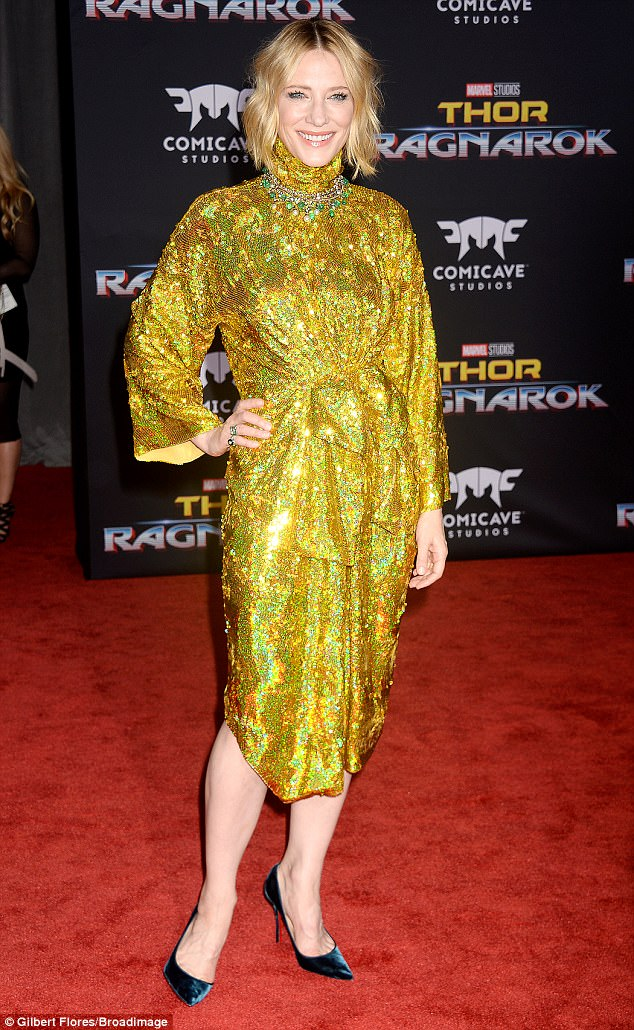 Cate Blanchett Eulogizes All The Courageous Women Who Spoke Against Mr Weinstein At The Premiere Of Thor: Ragnarok... Steals The World's Attention In Sparkling Gucci Outfit