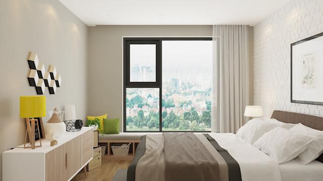 Mẫu thiết kế phòng ngủ căn hộ Riverside Garden