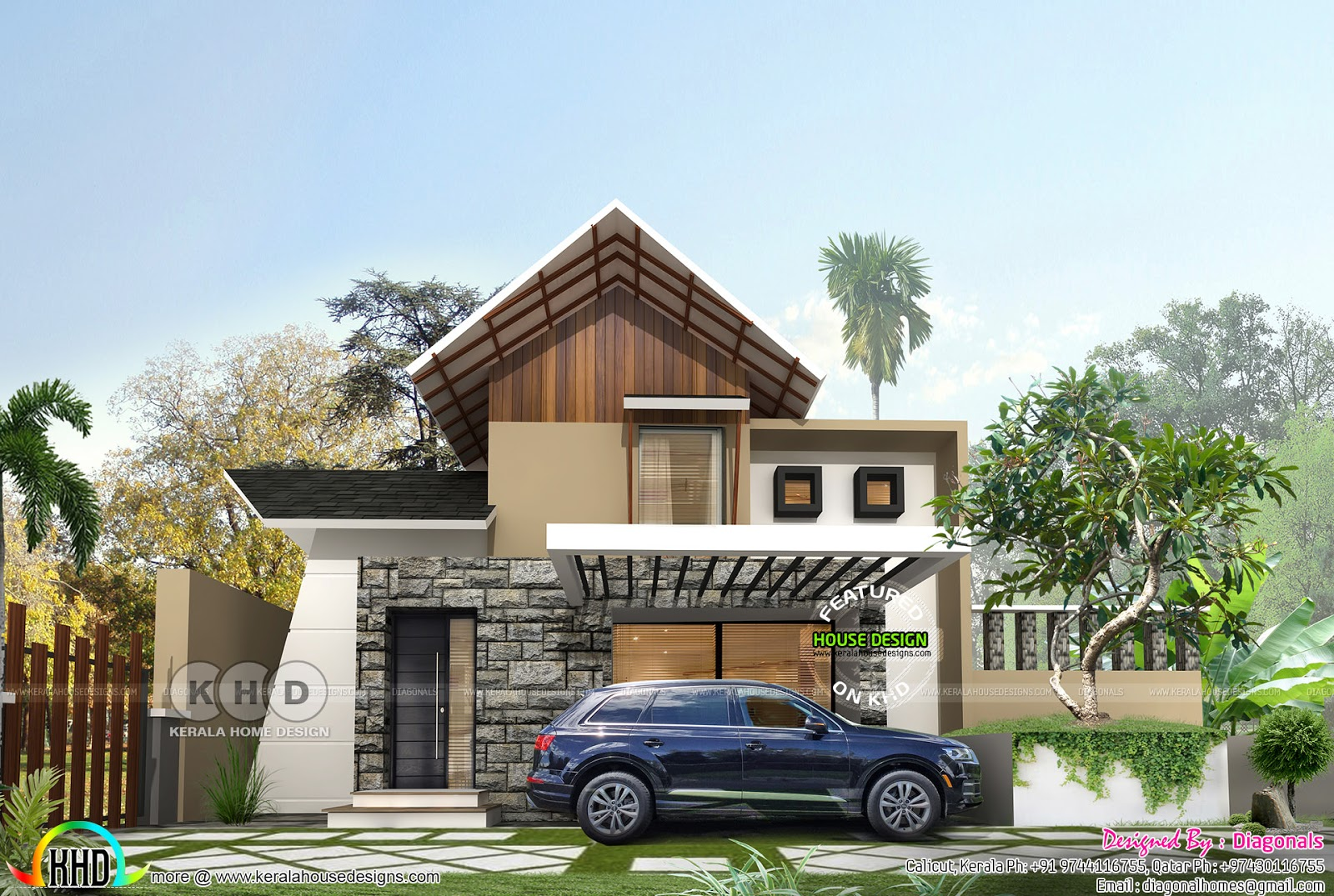 3 Bhk Mixed Roof Contemporary Budget Friendly Home Kerala