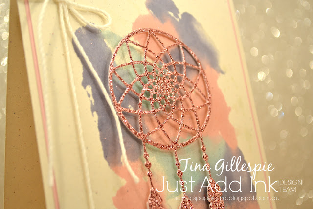 scissorspapercard, Stampin' Up!, Just Add Ink, Glimmer Paper, Weather Together, Smooshing