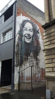 Graffiti, Street Art, Urban Art, breites Lachen, Neuseeland