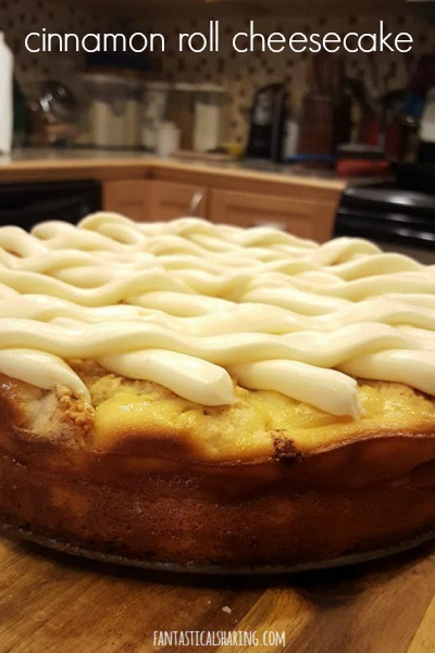 Cinnamon Roll Cheesecake #recipe #dessert #cheesecake #cinnamonroll