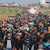 Decenas de miles de palestinos reclaman el levantamiento del bloqueo a Gaza
