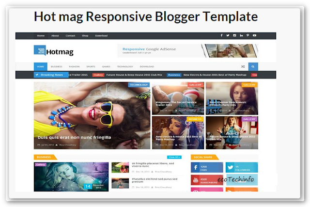 HOTMAG THEME BLOGGER TEMPLATE