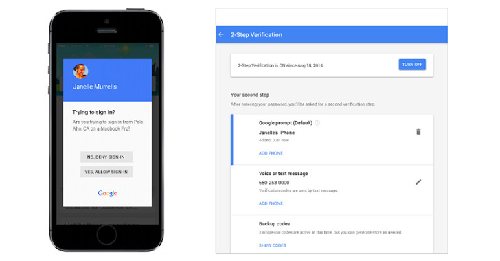Google makes 2-Factor Authentication a lot Easier and Faster