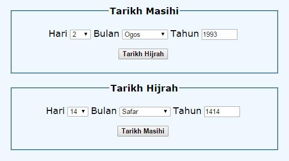 KETAHUI TARIKH LAHIR ANDA MENGIKUT KALENDAR ISLAM
