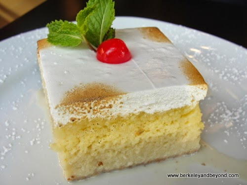 tres leches cake at Galeto Brazilian Grill in Oakland, California