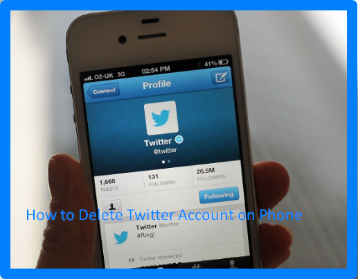 How to Delete Twitter Account on Phone