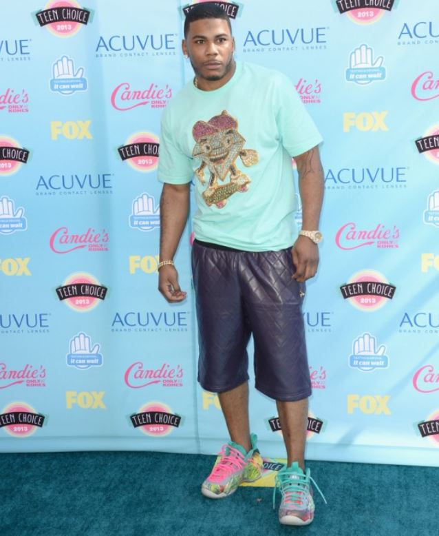 """newest 57f6c b0298 Here is a look at Nelly Wearing his craaaaayzee Nike Air Foamposite One """"305″  Gourmet Kickz Custom Sneaker which id love to own! Peep more images after  the ..."""