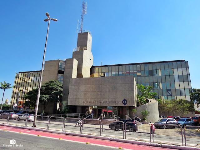 Vista ampla do complexo da Companhia do Metropolitano de São Paulo - CCO - Liberdade - São Paulo