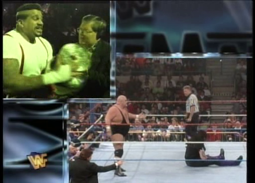 WWF / WWE: Wrestlemania 11 - Kama stole Paul Bearer's urn during the Undertaker vs. King Kong Bundy match