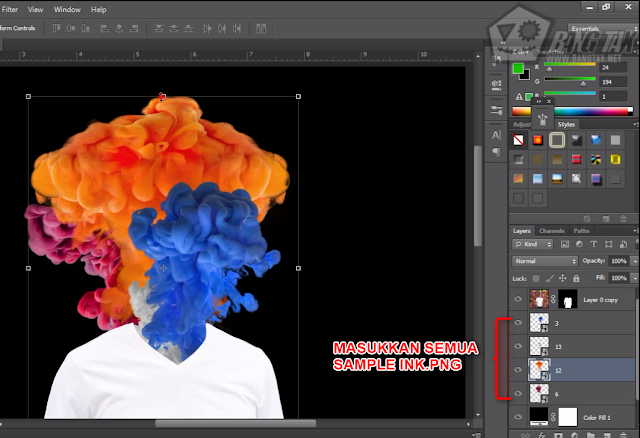 Tutorial Membuat Efek Ink Smoke Head Di Photoshop