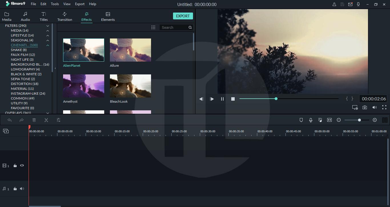 filmora chromatic filter set free download
