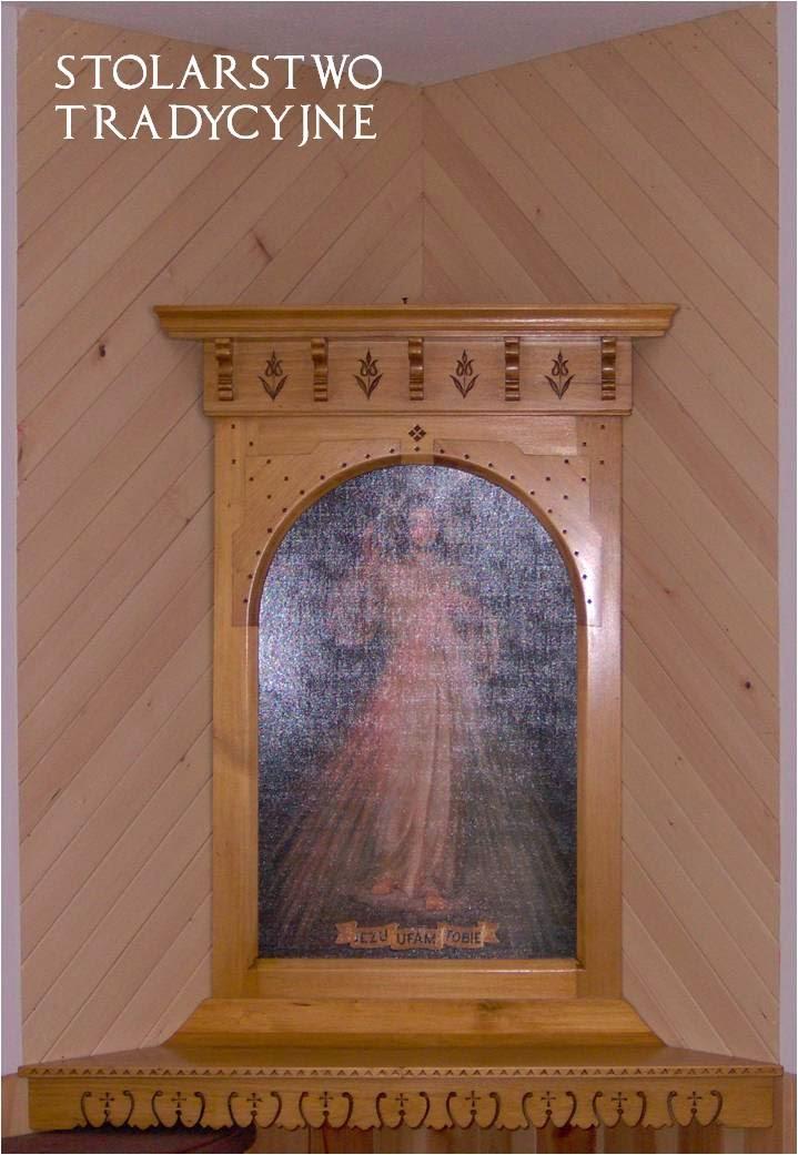 drewniana rama do obrazu - styl zakopiański