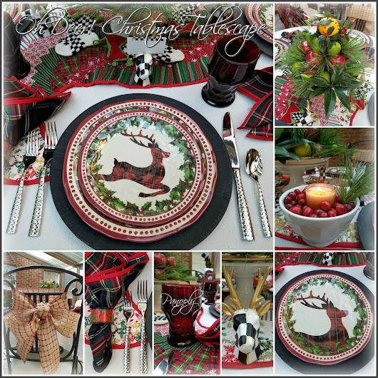 Oh Deer! Christmas Tablescape 2017