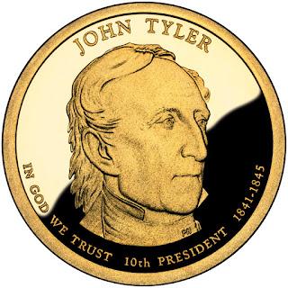 John Tyler US Presidential One Dollar Coin