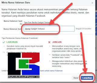 Tips facebook bagi anda yang sudah mengetahui  Tutorial Mengmengganti Nama dan Namapengguna / URL FansPage di Facebook Terbaru