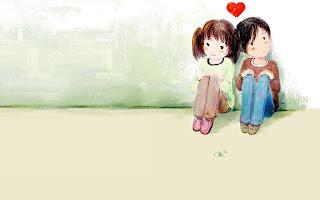 Gambar jatuh cinta kartun