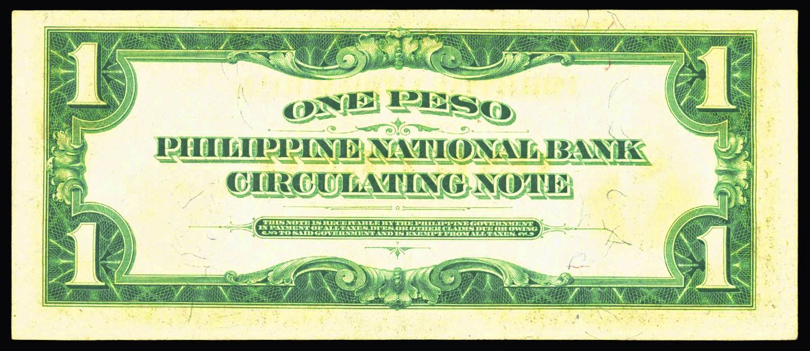 ONE PESO - PHILIPPINE NATIONAL BANK CIRCULATING NOTE