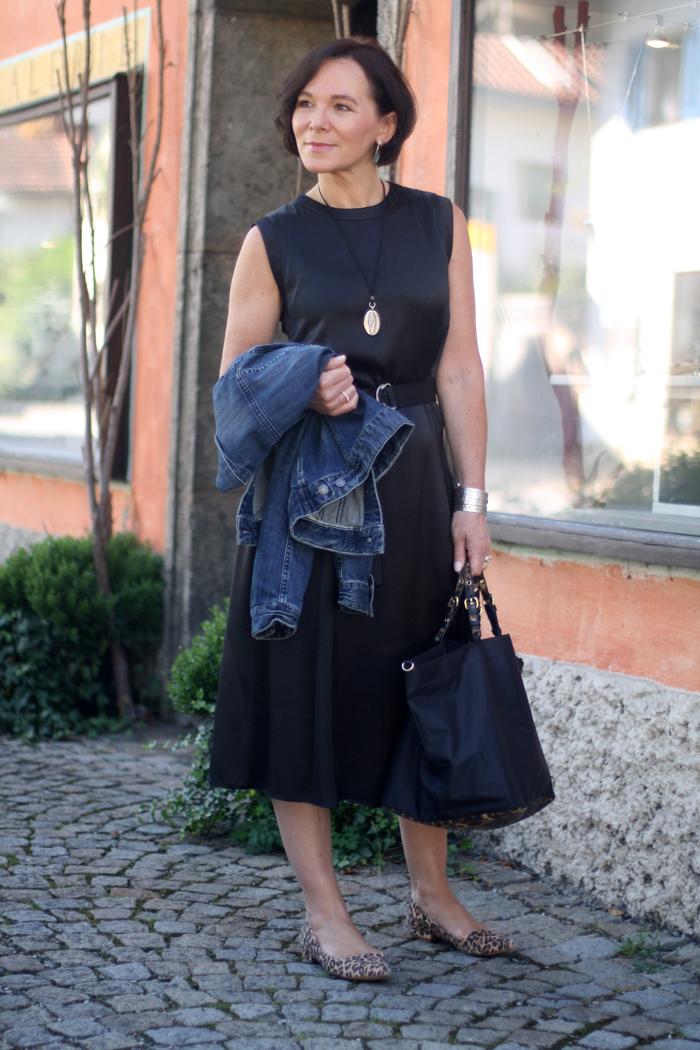 Little Black Dress with Denim Jacket