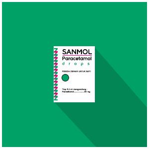 Sanmol : Paracetamol Drops / Tetes, Pereda Demam Untuk Bayi (Alcohol Free)