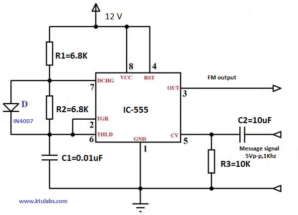 Groovy Fm Modulation Using 555 Ic Wiring 101 Breceaxxcnl